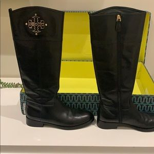 Black Tory Burch leather boots